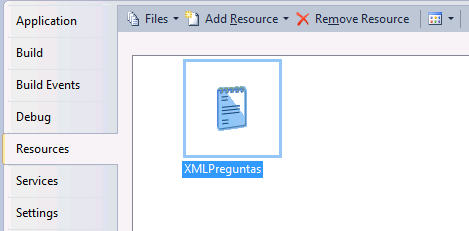 leer recurso xml visual studio