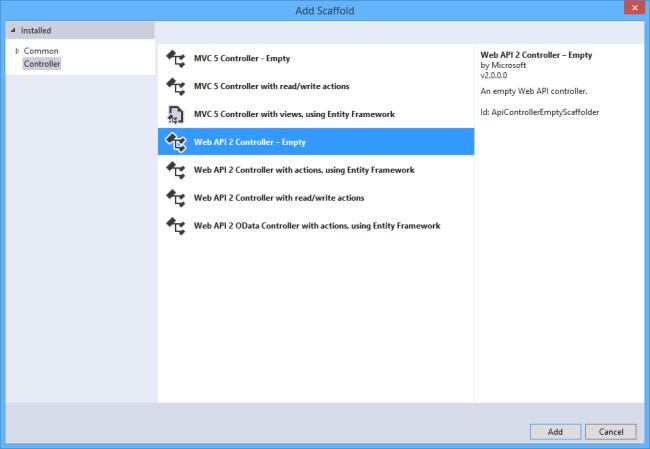 Web API Controlador 2