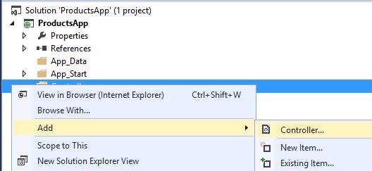 Web API Controlador